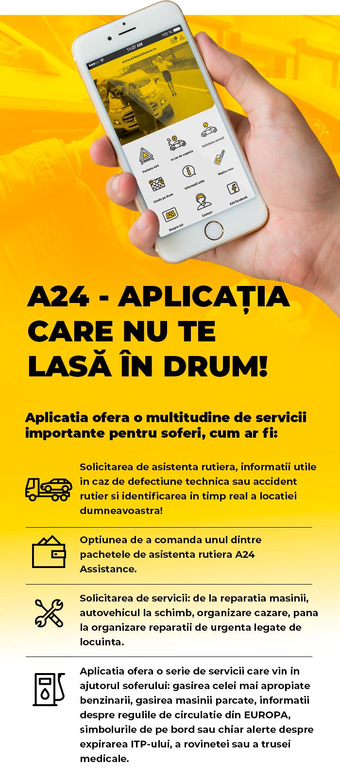 A24Assistance - Asistenta rutiera - APLICATIA A24